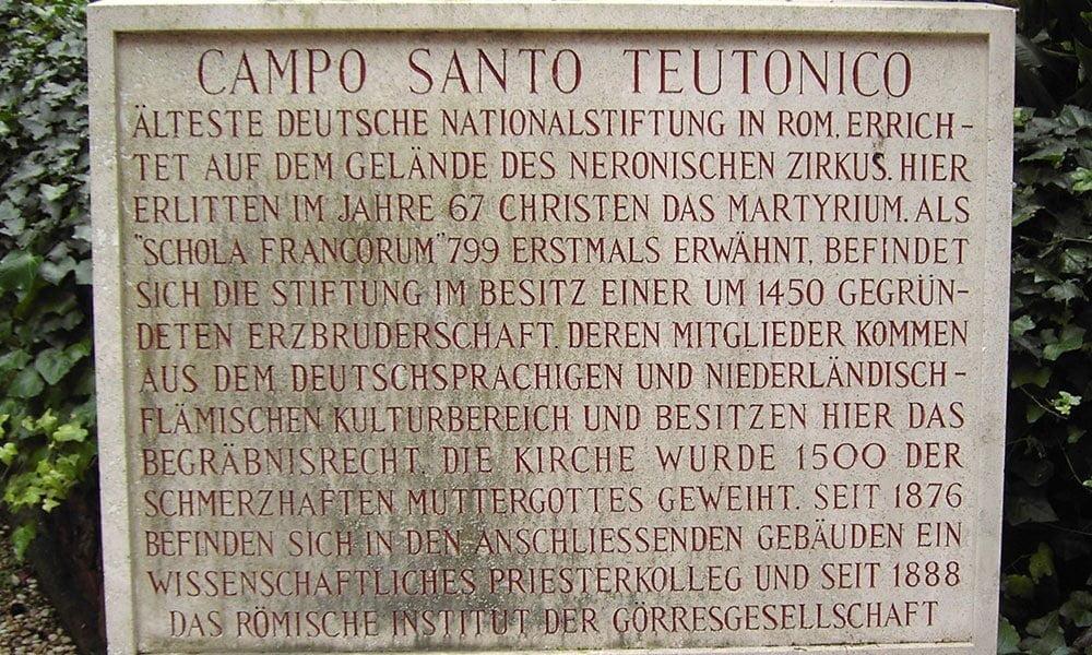 Der Campo Santo Teutonico