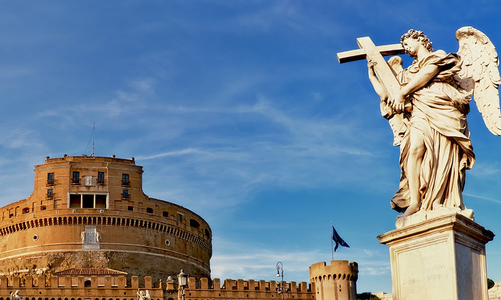 Rome from the Tiber - Castel Sant'Angelo