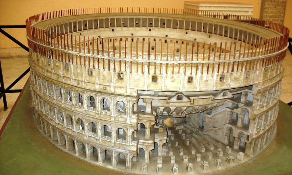 Museo della Cività Romana - Reproduktion des antiken Kolosseums