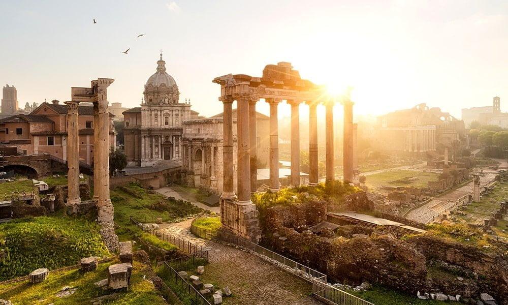 Rom bei Abenddämmerung - Forum Romanum