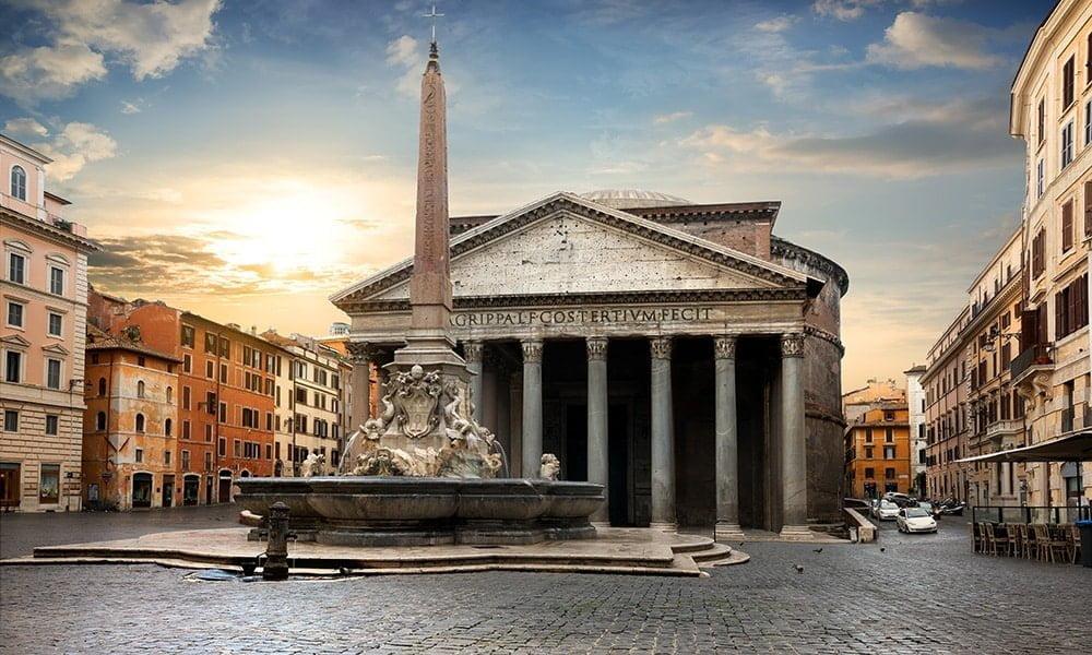 Rom bei Abenddämmerung - Pantheon