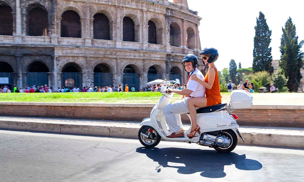 Vespa tour of Rome
